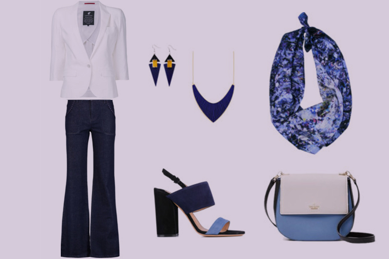 Business Casual in Navy and White with Sound of Infinity Square-h