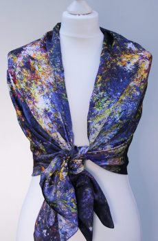 Aithne - Silk Scarf The Shining Lonely Star3