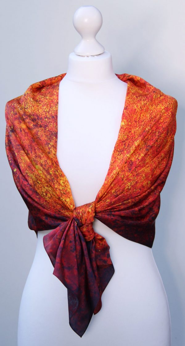 Aithne - Silk Scarf The Spiral to Infinity4
