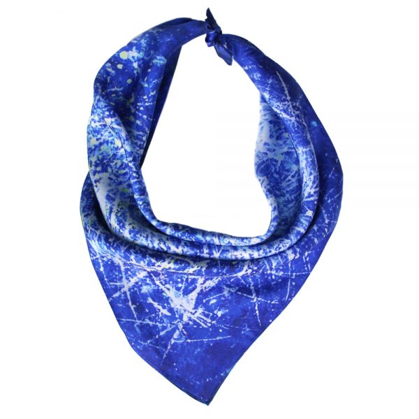 Aithne - Square Silk Scarf Chaotic Movement2