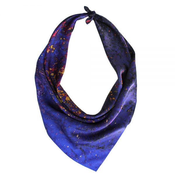 Aithne - Square Silk Scarf Flames in Darkness6