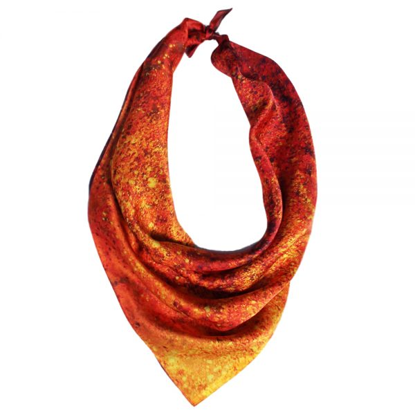 Aithne - Square Silk Scarf The Spiral to Infinity3