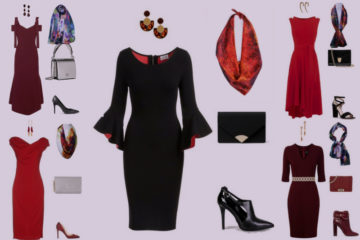 Aithne - Fiery and Elegant Christmas Party Outfit Ideas