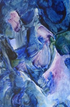 Aithne - Art on Scarf - The Blue Whirlwind